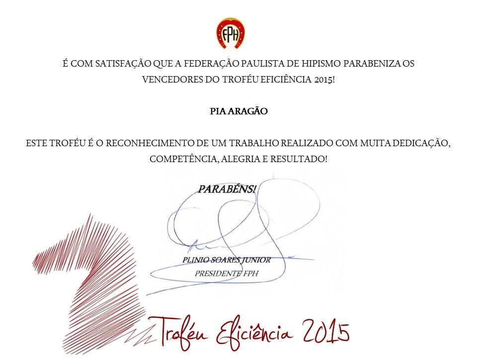 Troféu Eficiência 2015: Pia Aragão e Zepelim Interagro