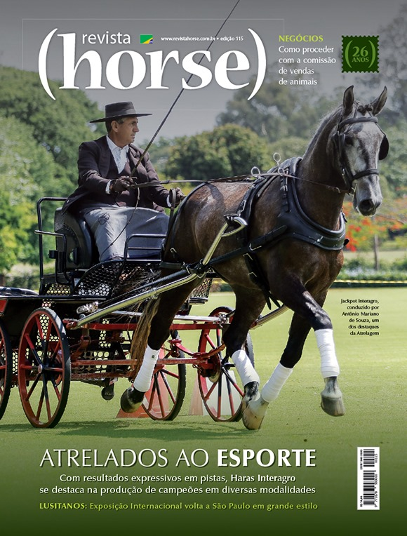Jackpot Interagro & Mariano Souza na capa da Revista Horse de Julho/2019. Foto Heleno Clemente