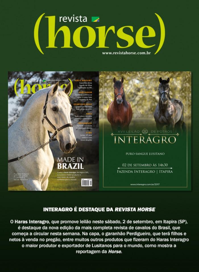 Perdigueiro (MAC) é capa da edição 99 da Revista Horse. Foto: TUPA