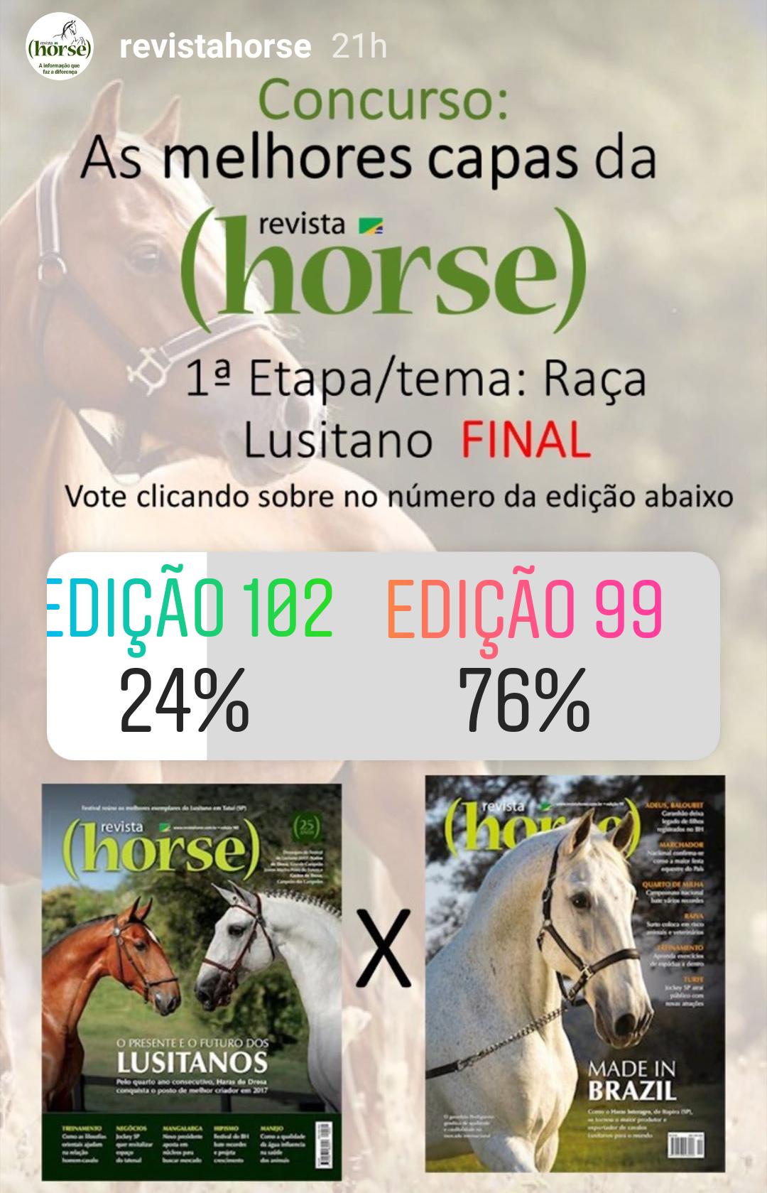 As melhores capas da Revista Horse - 1a etapa/tema: Raça Lusitano