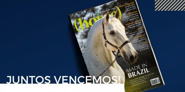 A capa ilustrada pelo Perdigueiro (MAC) vence o concurso da Revista Horse