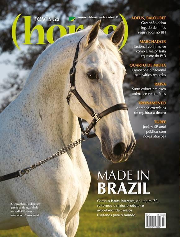 Perdigueiro (MAC) na capa da Revista Horse . Foto TUPA